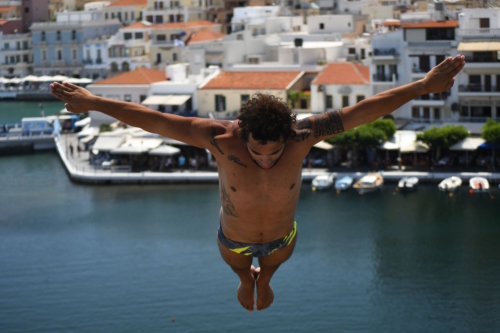 Lazaro Schaller (SUI / BRA), Agios Nikolaos Cliff Diving Competition 2018
