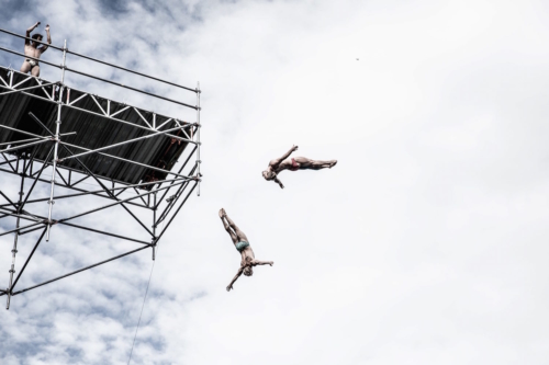 Synchronized High Diving, Lugano Cliff Diving Show 2018