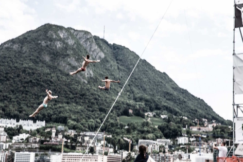 Mass High Dive, Lugano Cliff Diving Show 2018