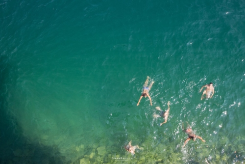 High Divers in the water, Edimen Lugano Cliff Diving 2019