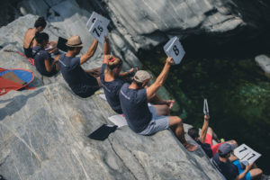 Judges, International Cliff Diving Competition 2019