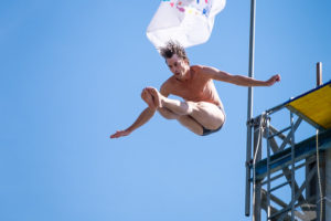 Andreas Hulliger (SUI), High Diving Show at Züri Fäscht 2019