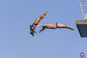 Veronica Papa (ITA) and Alain Lobet (FRA), Lugano Diving Shows 2021
