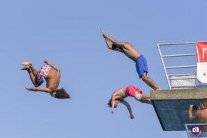 Joel Ippolito (SUI), Samuel Barmann (SUI) and Alex Renggli (SUI), Lugano Diving Shows 2021