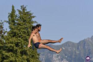 Robin Roux (FRA) and Lazaro Schaller (SUI/BRA), Lugano Diving Shows 2021